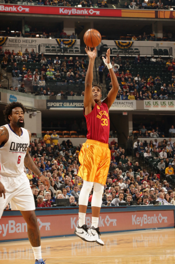Myles Turner hits an open jumper, he finished with 16 points. (@NBA)
