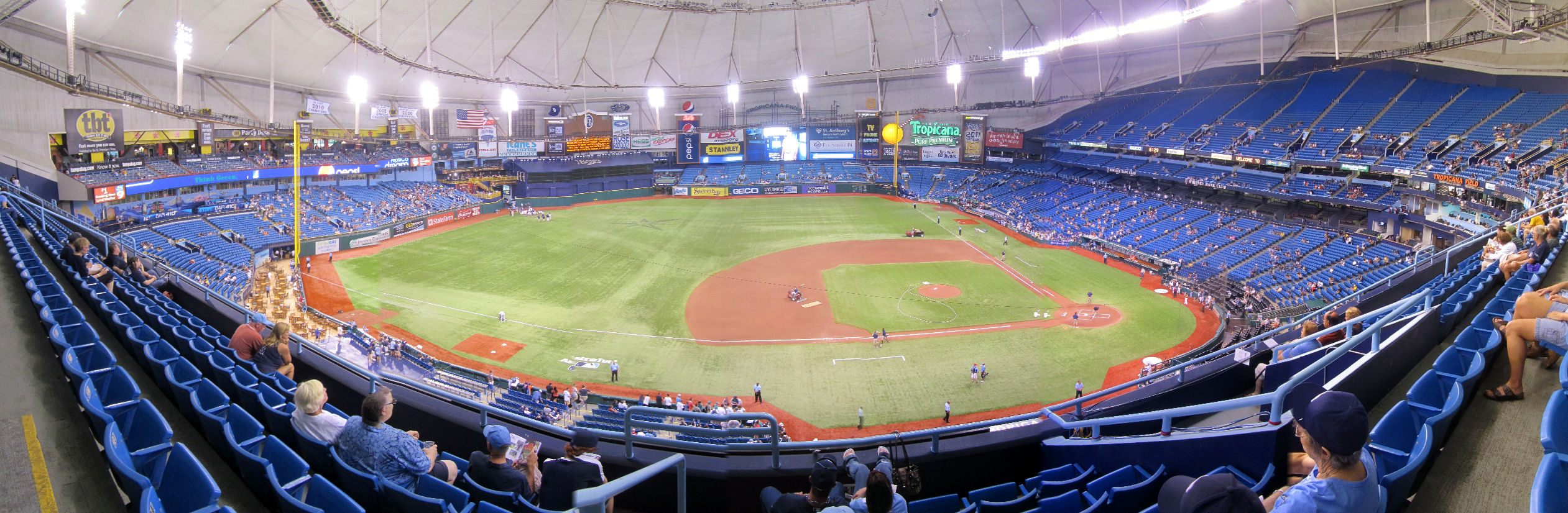 Tropicana Field, the home to the Tampa Bay Rays has seen a decline in attendance over the past decade.