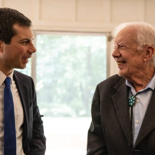 Mayor Pete Buttigieg Meets with Former President Jimmy Carter