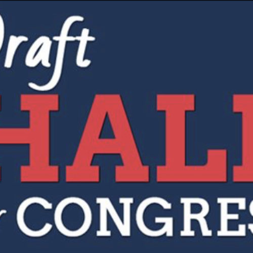 Draft Hale for Congress Facebook page appears