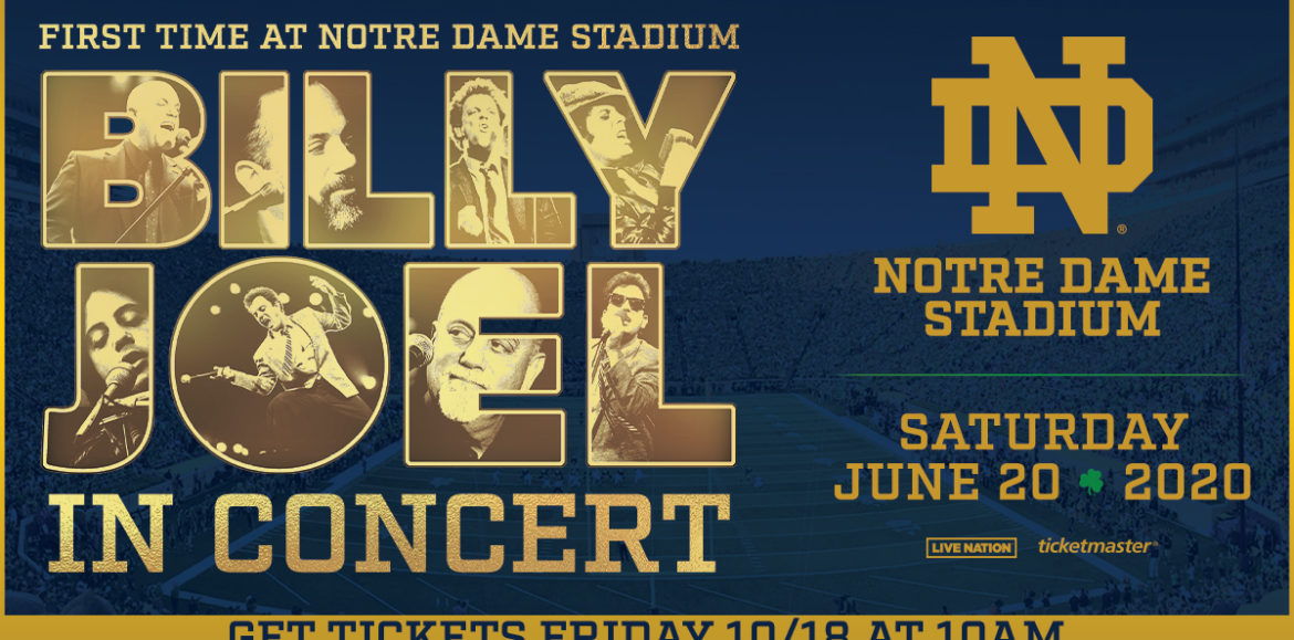 BILLY JOEL FIRST EVER APPEARANCE AT NOTRE DAME STADIUM