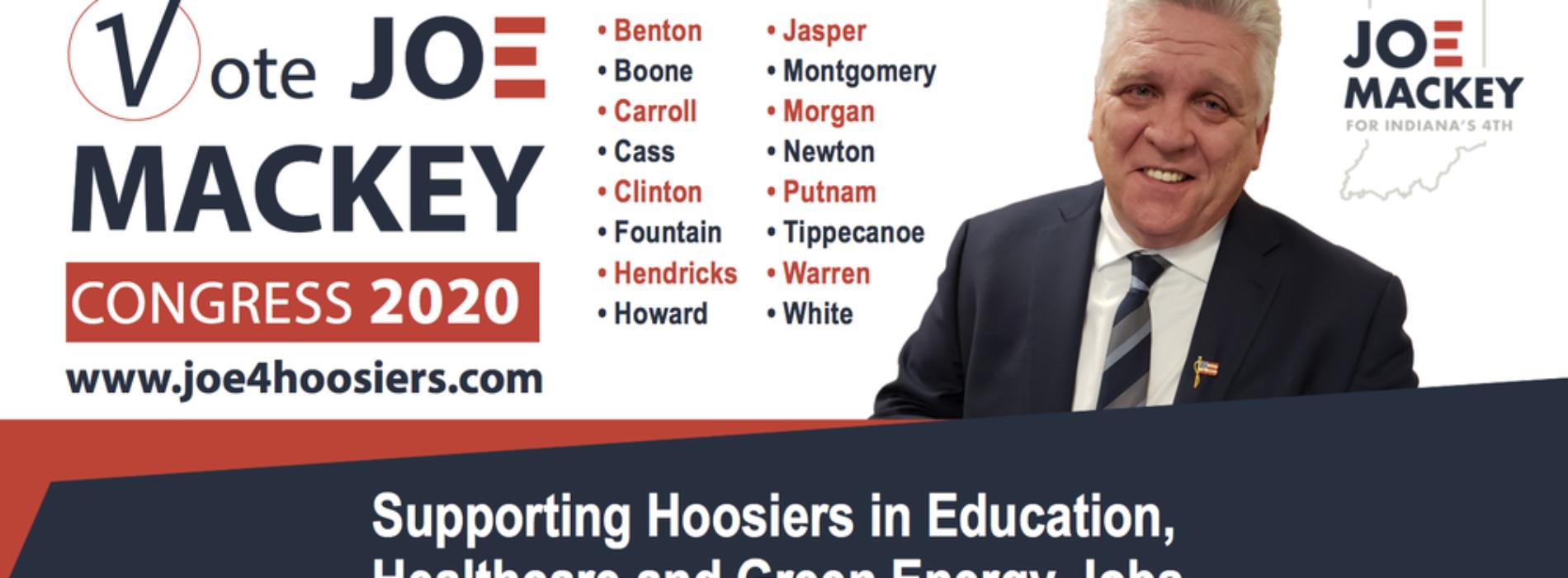 Joe Mackey releases new radio ad Indiana's 4th CD race